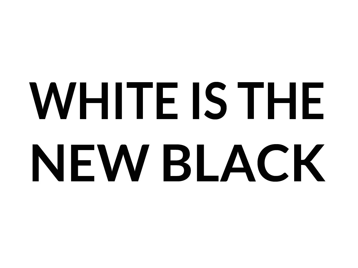 Web design: White is the new black